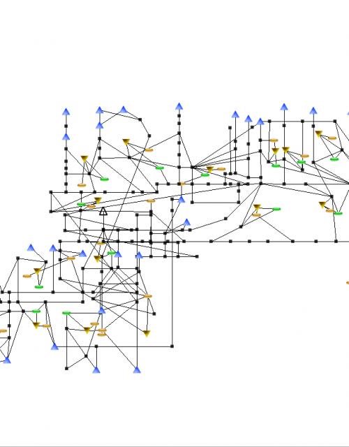 Grid representing the California Water Network